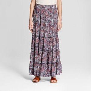 Knox Rose purple paisley maxi pull on skirt